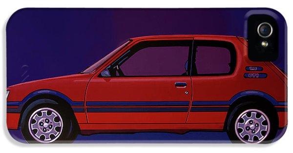 Peugeot 205 Gti 1984 Painting IPhone 5 Case by Paul Meijering