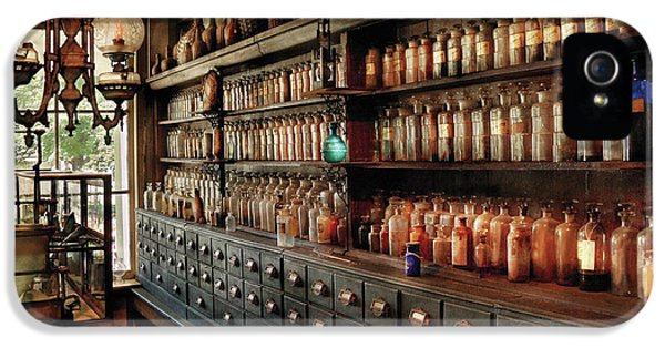 Pharmacy - So Many Drawers And Bottles IPhone 5 Case by Mike Savad