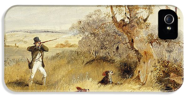 Pheasant iPhone 5 Case - Pheasant Shooting by Henry Thomas Alken