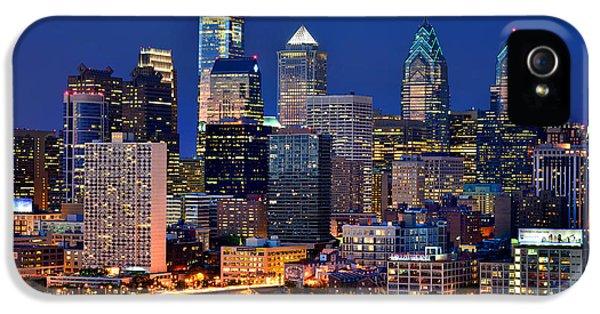 Philadelphia Skyline At Night IPhone 5 Case by Jon Holiday