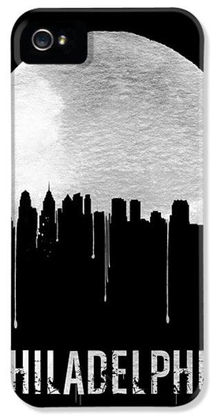 Philadelphia Skyline Black IPhone 5 / 5s Case by Naxart Studio