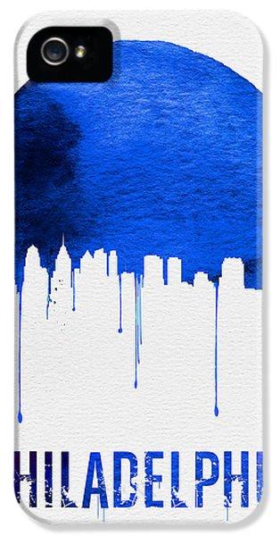 Philadelphia Skyline Blue IPhone 5 / 5s Case by Naxart Studio