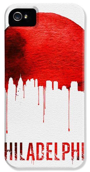 Philadelphia Skyline Redskyline Red IPhone 5 Case