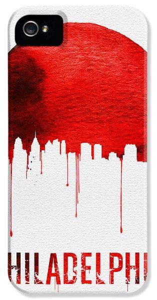 Philadelphia Skyline Redskyline Red IPhone 5 / 5s Case by Naxart Studio