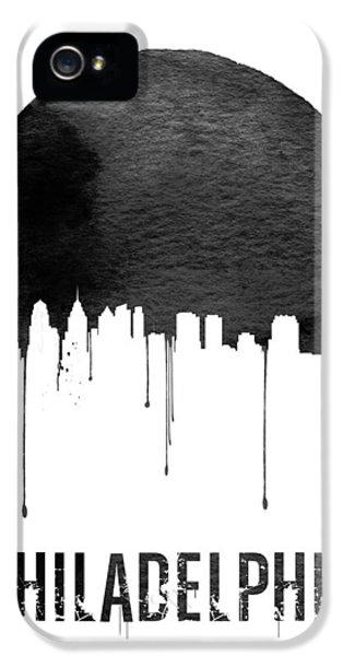 Philadelphia Skyline White IPhone 5 / 5s Case by Naxart Studio