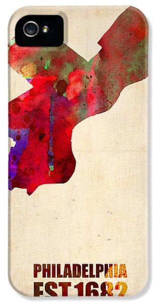 Philadelphia Watercolor Map IPhone 5 / 5s Case by Naxart Studio