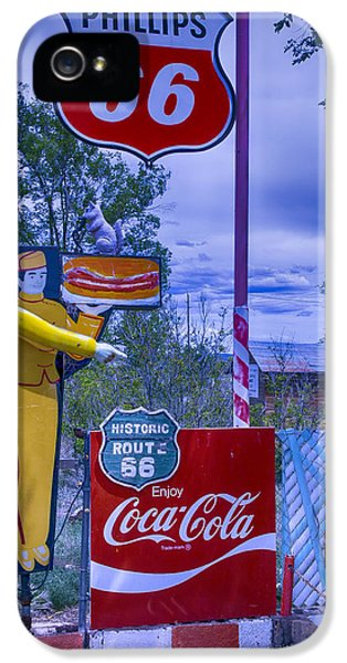Phillips 66 Sign IPhone 5 Case by Garry Gay