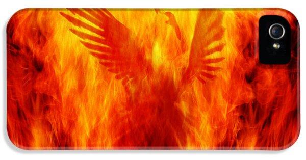 Phoenix Rising IPhone 5 Case by Andrew Paranavitana