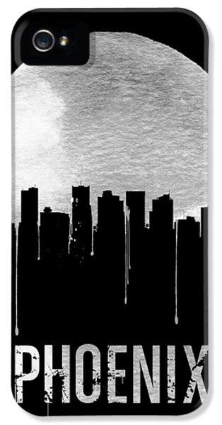 Phoenix Skyline Black IPhone 5 Case by Naxart Studio