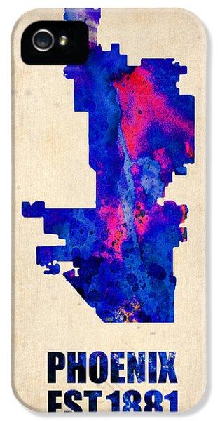 Phoenix Watercolor Map IPhone 5 Case by Naxart Studio