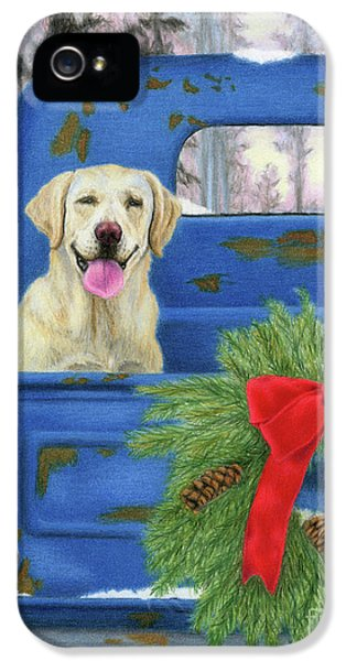 Truck iPhone 5 Case - Pick-en Up The Christmas Tree by Sarah Batalka