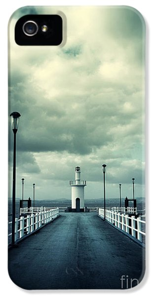 Pier And Lighthouse IPhone 5 Case by Carlos Caetano