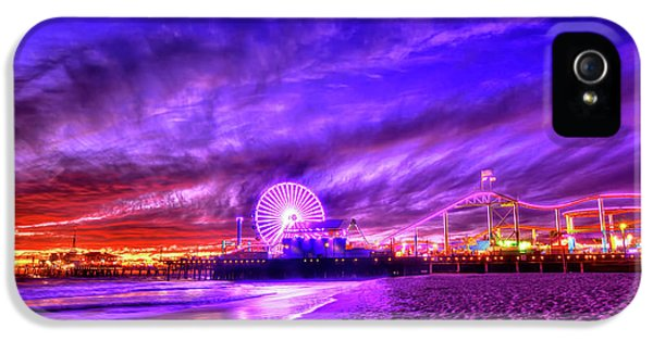 Santa Monica iPhone 5 Case - Pier Of Lights by Midori Chan