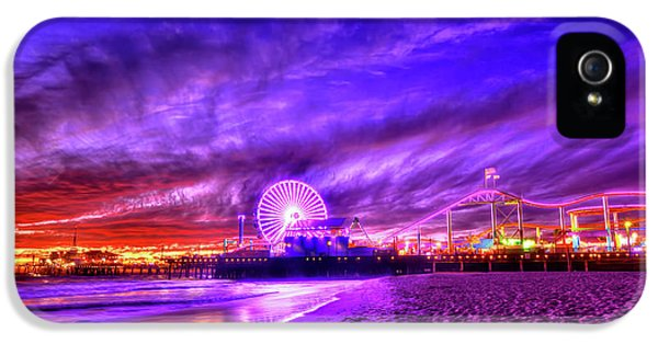 Pier Of Lights IPhone 5 Case by Midori Chan