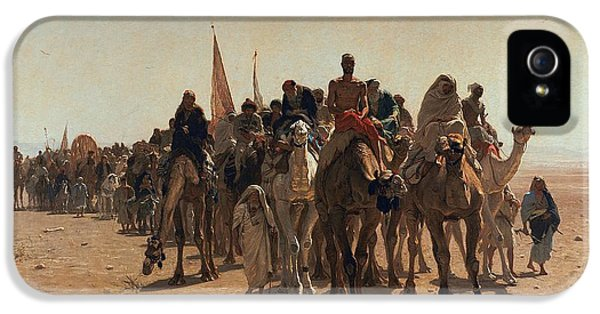 Pilgrims Going To Mecca IPhone 5 Case by Leon Auguste Adolphe Belly