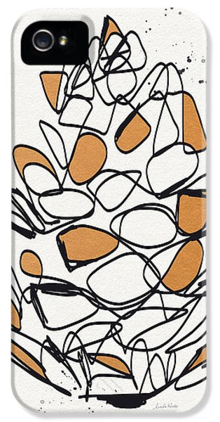 Pine Cone- Art By Linda Woods IPhone 5 Case by Linda Woods