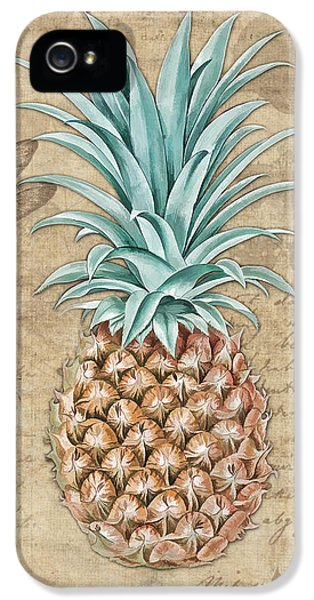 Pineapple, Ananas Comosus Vintage Botanicals Collection IPhone 5 Case