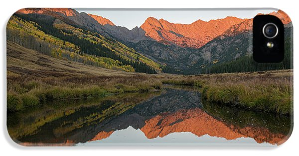 IPhone 5 Case featuring the photograph Piney River Autumn Sunrise by Aaron Spong