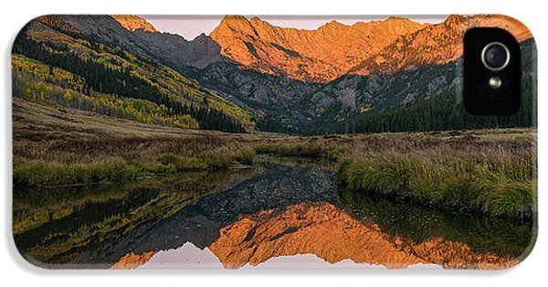 IPhone 5 Case featuring the photograph Piney River Panorama by Aaron Spong