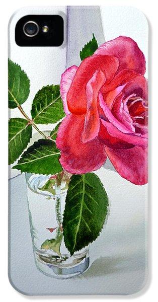 Rose iPhone 5 Case - Pink Rose by Irina Sztukowski