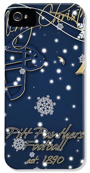 Pitt Panthers Christmas Cards IPhone 5 Case by Joe Hamilton