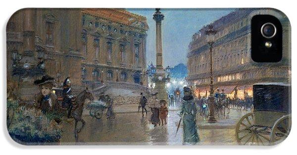 Place De L Opera In Paris IPhone 5 Case by Georges Stein
