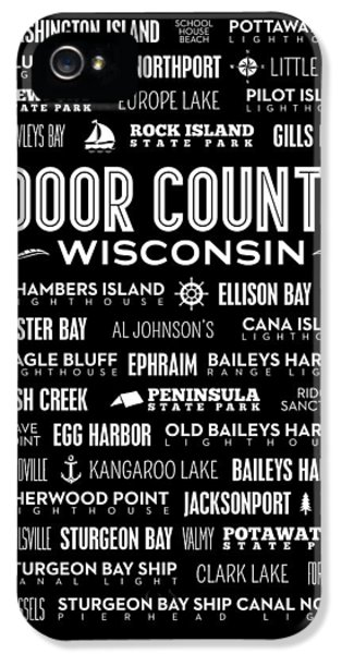 Places Of Door County On Black IPhone 5 Case