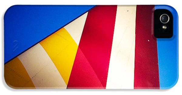 Detail iPhone 5 Case - Plane Abstract Red Yellow Blue by Matthias Hauser
