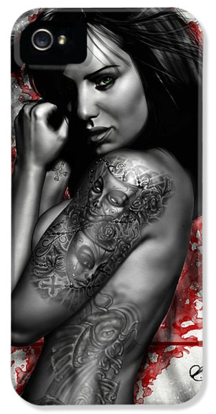 Koi iPhone 5 Case - Plata O Plomo by Pete Tapang