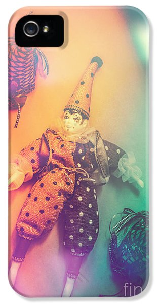 Play Act Of A Puppet Clown Performing A Sad Mime IPhone 5 Case by Jorgo Photography - Wall Art Gallery