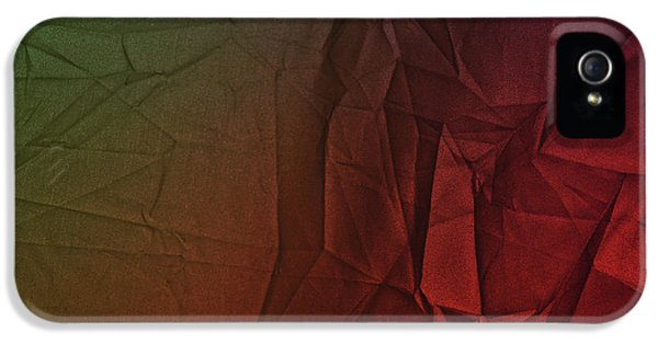 Play Of Hues. Dark Olive Green And Firebrick Red. Textured Abstract IPhone 5 Case