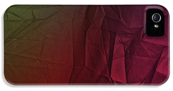 Play Of Hues. Dark Olive Green And Violet Red. Textured Abstract IPhone 5 Case