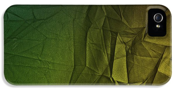 Play Of Hues. Forest Green And Olive Drub Gold. Textured Abstract IPhone 5 Case