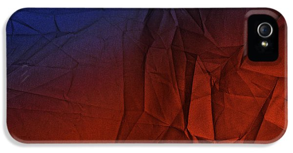 Play Of Hues. Medum Blue And Orange Red. Textured Abstract IPhone 5 Case