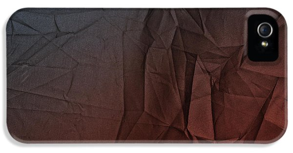 Play Of Hues. Sapphire Blue And Burnt Umber. Textured Abstract IPhone 5 Case