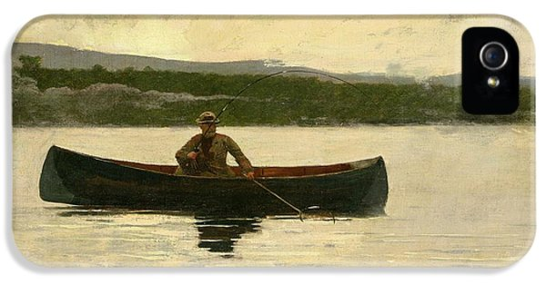 Homer iPhone 5 Cases - Playing a Fish iPhone 5 Case by Winslow Homer