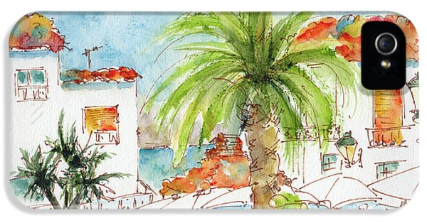 Plaza Altea Alicante Spain IPhone 5 Case by Pat Katz