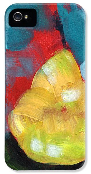 Pear iPhone 5 Case - Plump Pear- Art By Linda Woods by Linda Woods