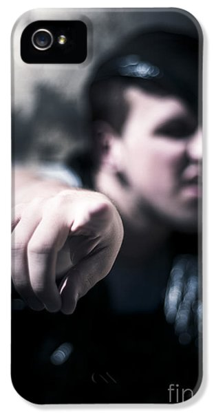 Pointing Out Of The Shadows Of Darkness IPhone 5 Case