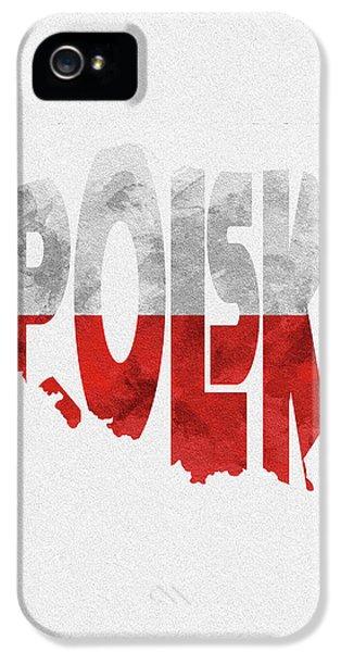Poland Typographic Map Flag IPhone 5 Case