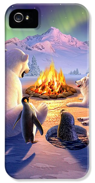 Bear iPhone 5 Case - Polar Pals by Jerry LoFaro