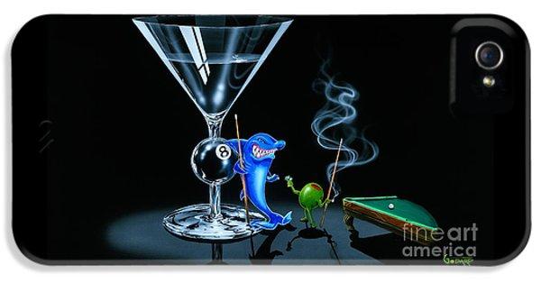 Hammerhead Shark iPhone 5 Case - Pool Shark by Michael Godard