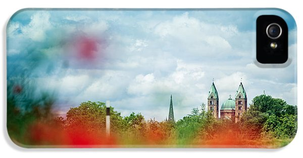Poppy Field And Speyer Cathedral IPhone 5 Case by Nailia Schwarz