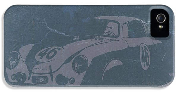 German Classic Cars iPhone 5 Cases - Porsche 356 Coupe Front iPhone 5 Case by Naxart Studio