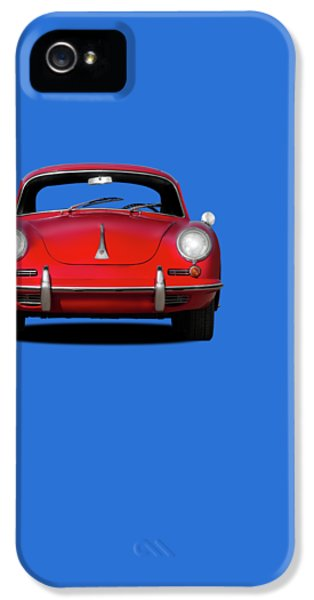 Cars iPhone 5 Cases - Porsche 356 iPhone 5 Case by Mark Rogan