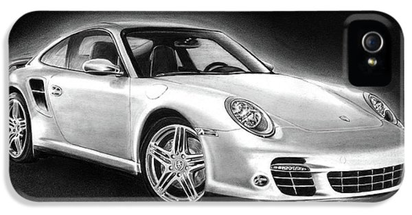 Sketch iPhone 5 Cases - Porsche 911 Turbo    iPhone 5 Case by Peter Piatt