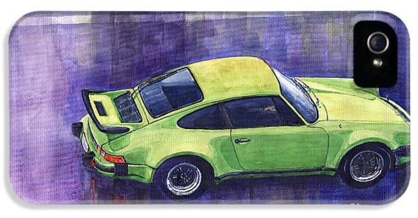 Car iPhone 5 Case - Porsche 911 Turbo Green by Yuriy Shevchuk