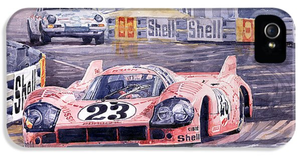 Legends iPhone 5 Case - Porsche 917-20 Pink Pig Le Mans 1971 Joest Reinhold by Yuriy Shevchuk