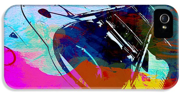 Porsche Watercolor IPhone 5 Case by Naxart Studio