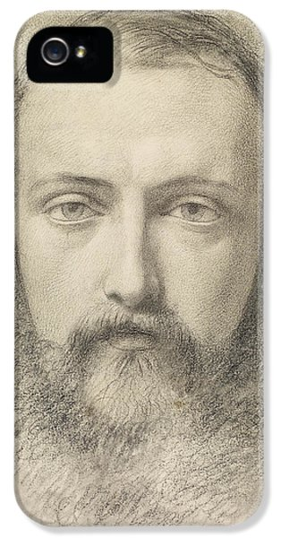 Portrait - Head Study Of Daniel Casey IPhone 5 Case by Ford Madox Brown